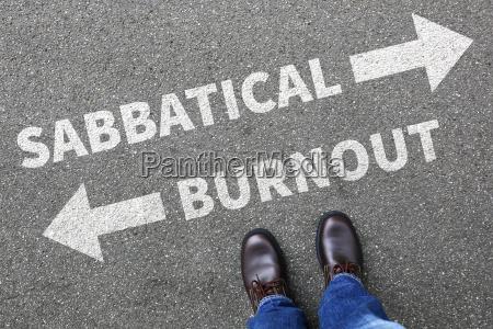 sabbatical burnout stress erholung freizeit arbeit