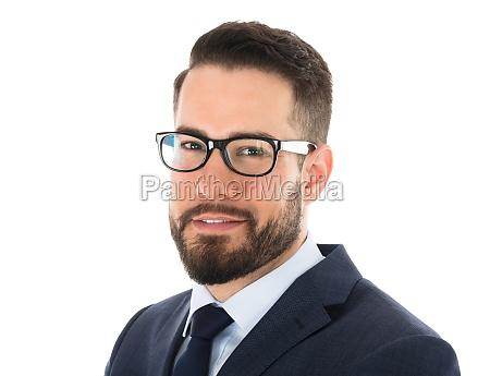 close up of happy businessman