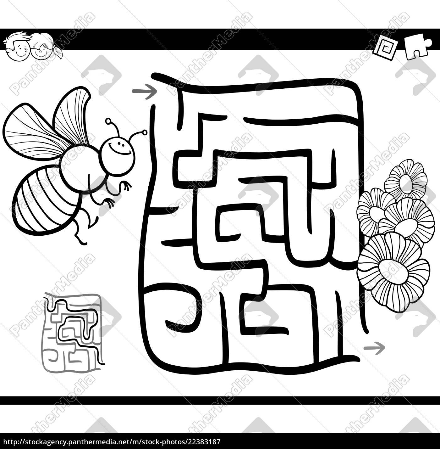 malvorlage biene und blume  x13 ein bild zeichnen