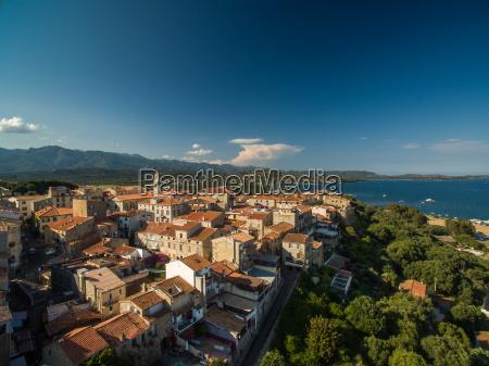 aerial view of porto vecchio old