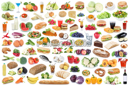 collection collage eating healthy eating fruits