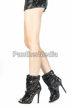 legs with high heels shoes