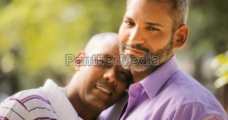 portrait of homosexual men gay pride