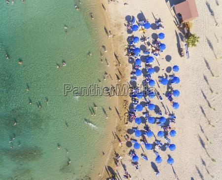 aerial view beach protaras cyprus