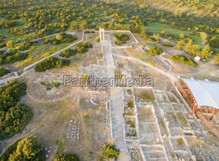 aerial view of apollonas ilatis ancient