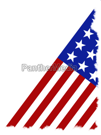 american flag isolated on a white