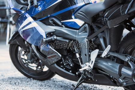 motorrad luxusartikel close up scheinwerfer stossdaempfer