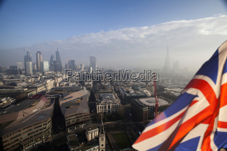 brexit uk flag and london
