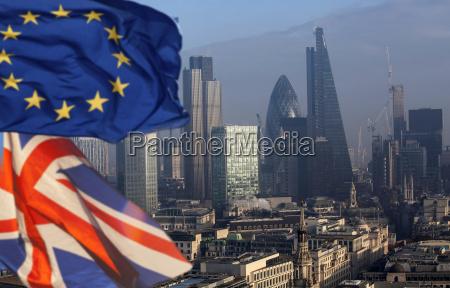 brexit uk and european union flag