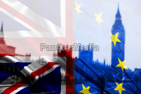 britische flagge eu flagge und big
