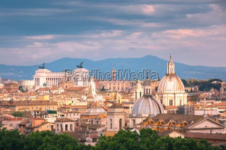 aerial wunderbare aussicht auf rom bei