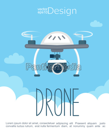 concept of the flying drone with