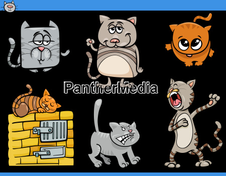 cartoon cat characters collection