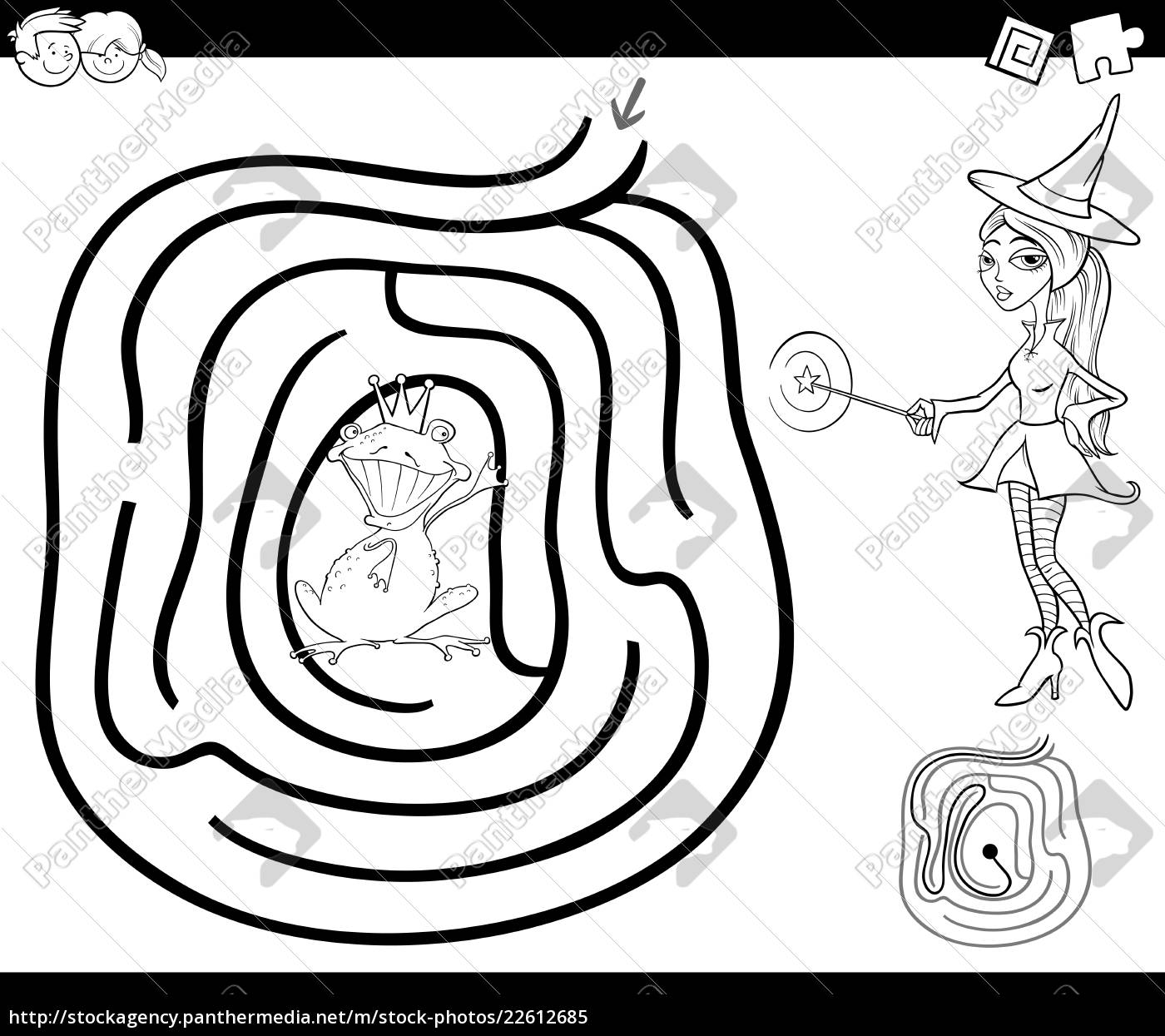 Lizenzfreies Bild 13 - märchen labyrinth malvorlage