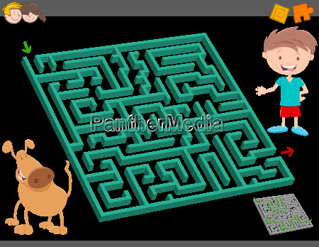 maze leisure activity game for kids