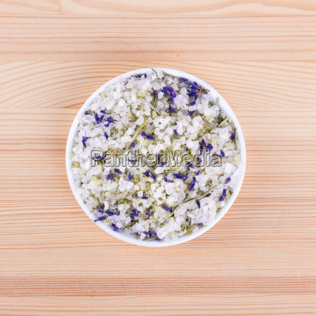 herb salt with rosemary and lavender