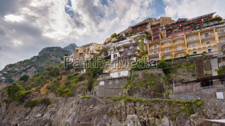 buildings on a cliff in positano