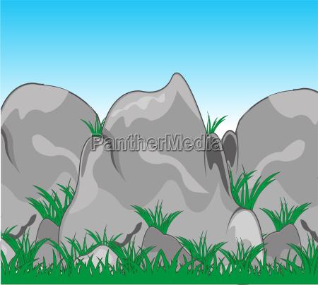 berge stein sommer sommerlich kraut saison