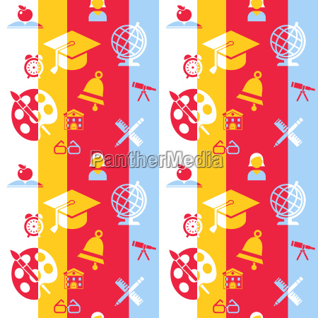 digital vector red and blue school