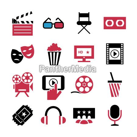 digital vector red black 16 cinema