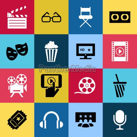 digitale vektor rot blau 16 kino