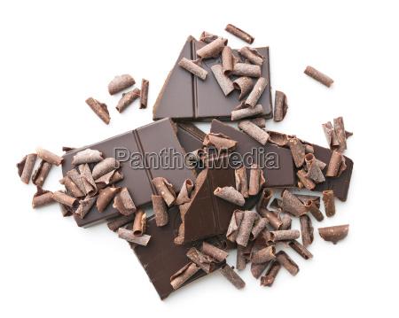 tasty chocolate curls