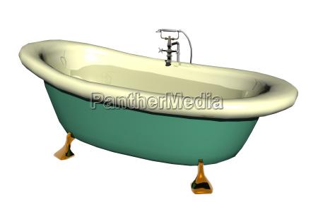 alte badewanne freigestellt