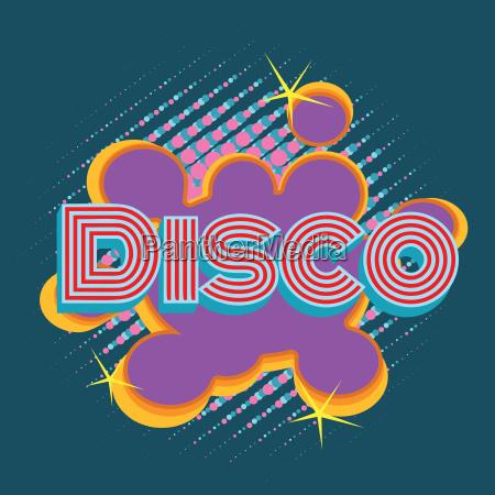 disco pop art lettering