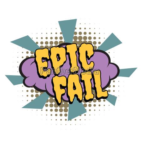 epische, scheitern, comic-wort - 22646575