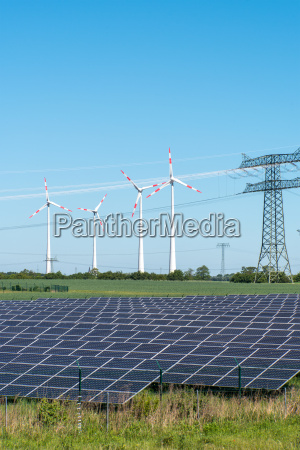 photovoltaic and wind turbines in germany