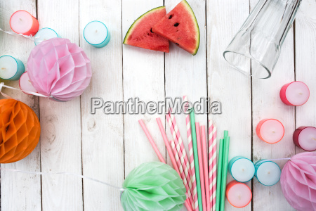colorful accessories for a summer party