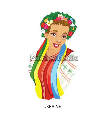 digitale vektor lustige cartoon laechelnde ukraine