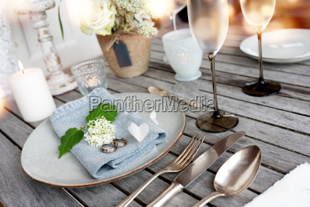 table decoration in vintage style for