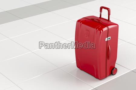 red reisetasche