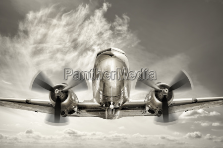 old aircraft in the sky