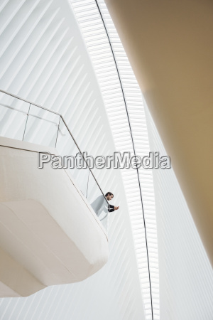 view from below of a man