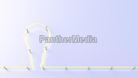 fluorescent lamp shaping a lightbulb 3d