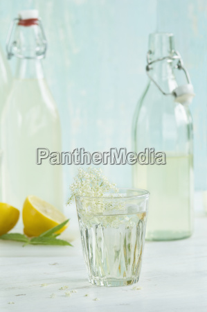 glass of homemade elderflower sirup
