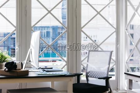 interior of a modern office vr