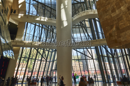 the interior of guggenheim museum by