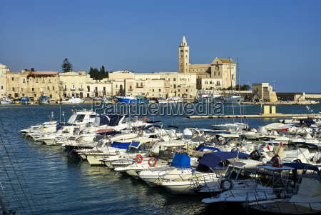 the cathedral and seaport of trani