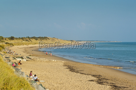 sandy beach at plage du peu