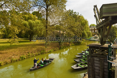 boat crane and punt at the