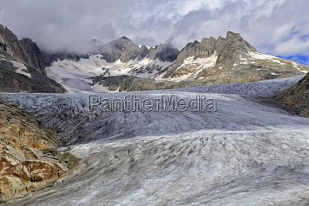rhone glacier at furka pass canton