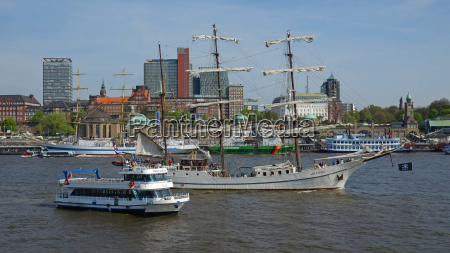 elbe river at landing stages hamburg