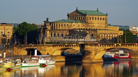 elbe river semper opera house dresden