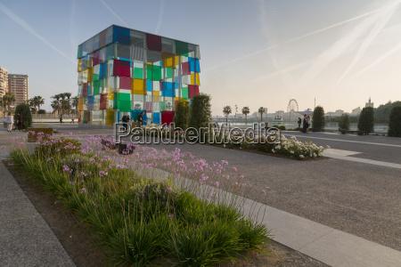 view of centre pompidou malaga malaga