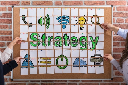 business people making strategy concept with