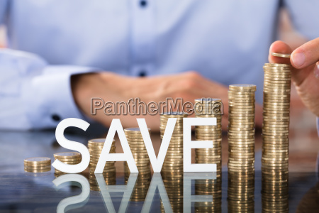 save text in front of coins