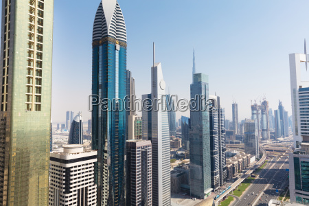 view of sheikh zayed road